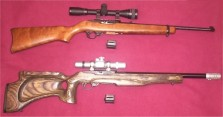 Unmodified_and_modified_Ruger_10_22_rifles
