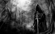 black-and-white-death-forest-gothic-swords-HD-Wallpapers