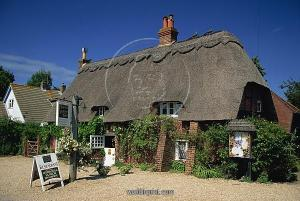 Thatched hotel, Brockenhurst, New Forest, Hampshire, England, United Kingdom, Europe