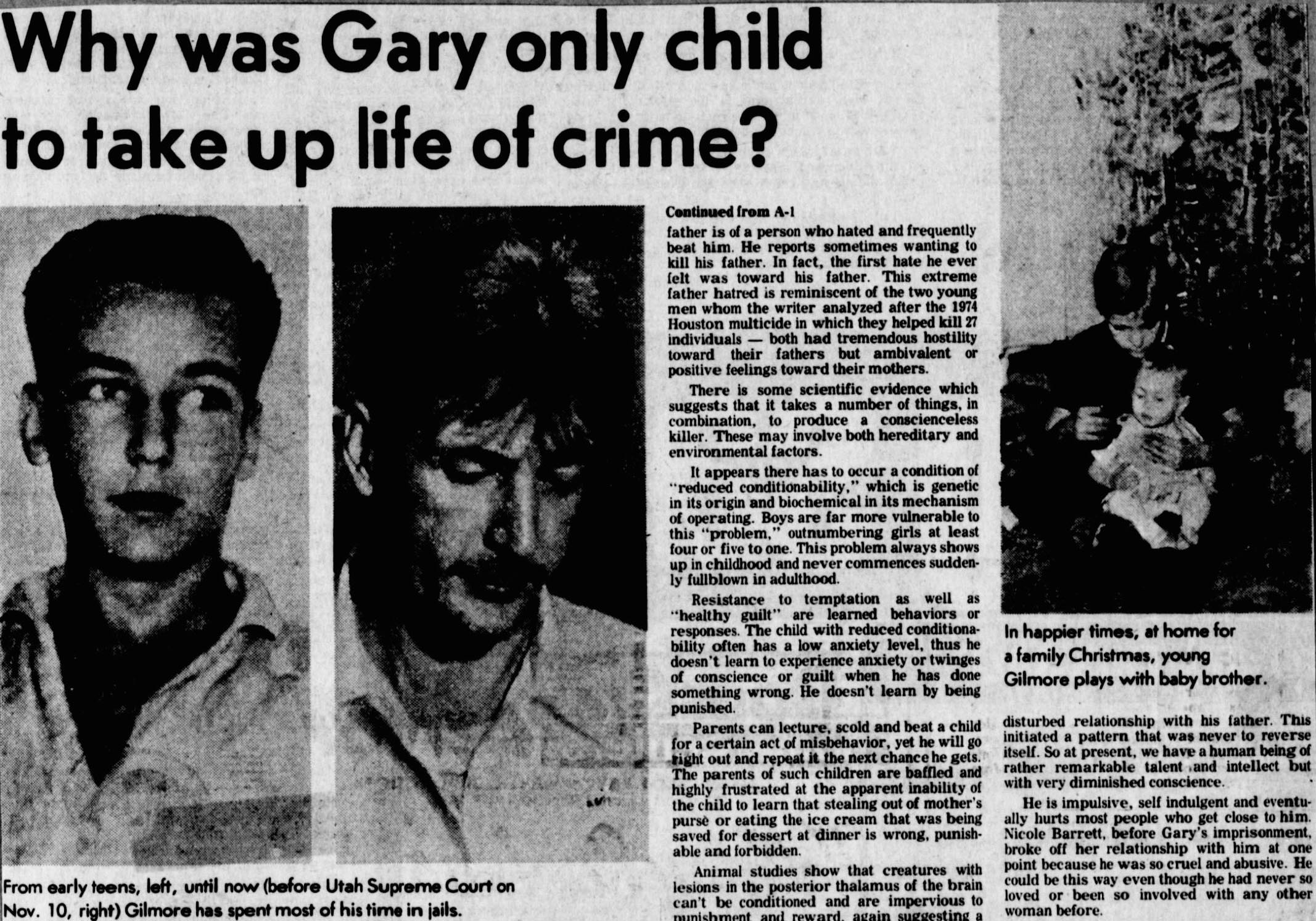 a literary analysis of antidisestablishmentarism number one my brother gary gilmore and winter dream